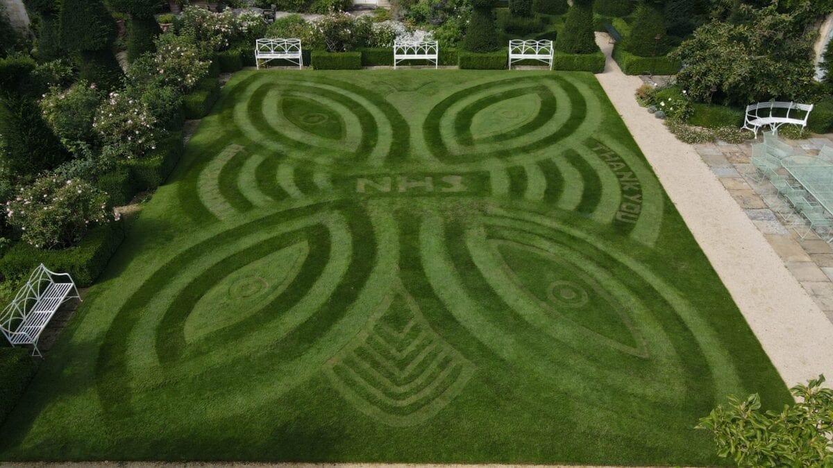 The winning lawn by Andrew Wain of Euridge Manor