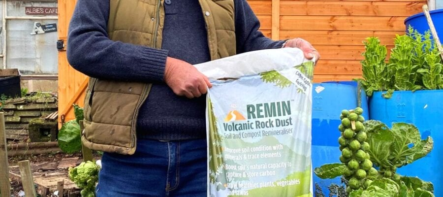 Terry Walton is a convert to the benefits of using rock dust to grow healthy veg
